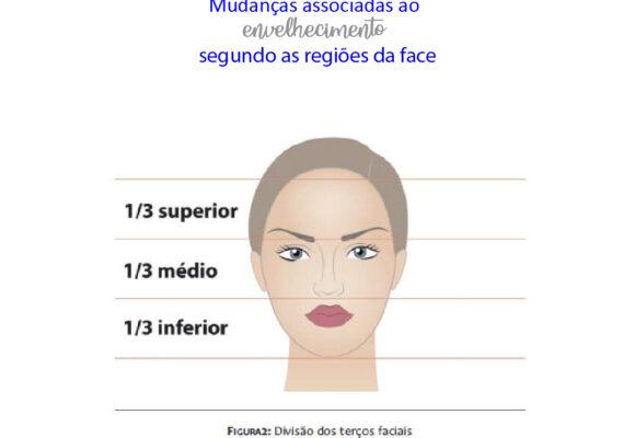 Mudanças associadas ao envelhecimento segundo as regiões da face